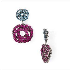 NIB Anthro Dannijo Crystal Drop Earrings
